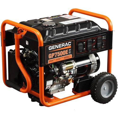 Generac 5943, 7500 Running Watts/9375 Starting Watts, Gas Powered Portable Generator