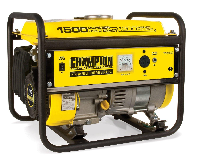 Champion Power Equipment 42436 1200 Watt Multi-Purpose Portable Generator