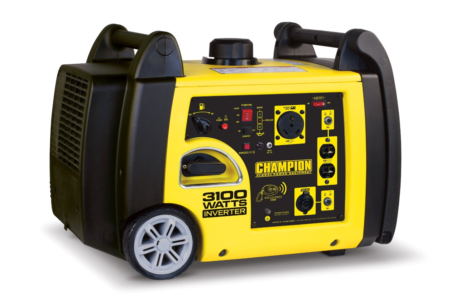 Champion Power Equipment 75537i 3100 Watt RV Ready Portable Inverter Generator