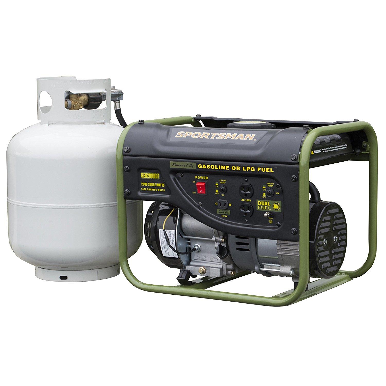 Sportsman GEN2000DF, 1400 Running Watts/2000 Starting Watts, Duel Fuel Powered Portable Generator