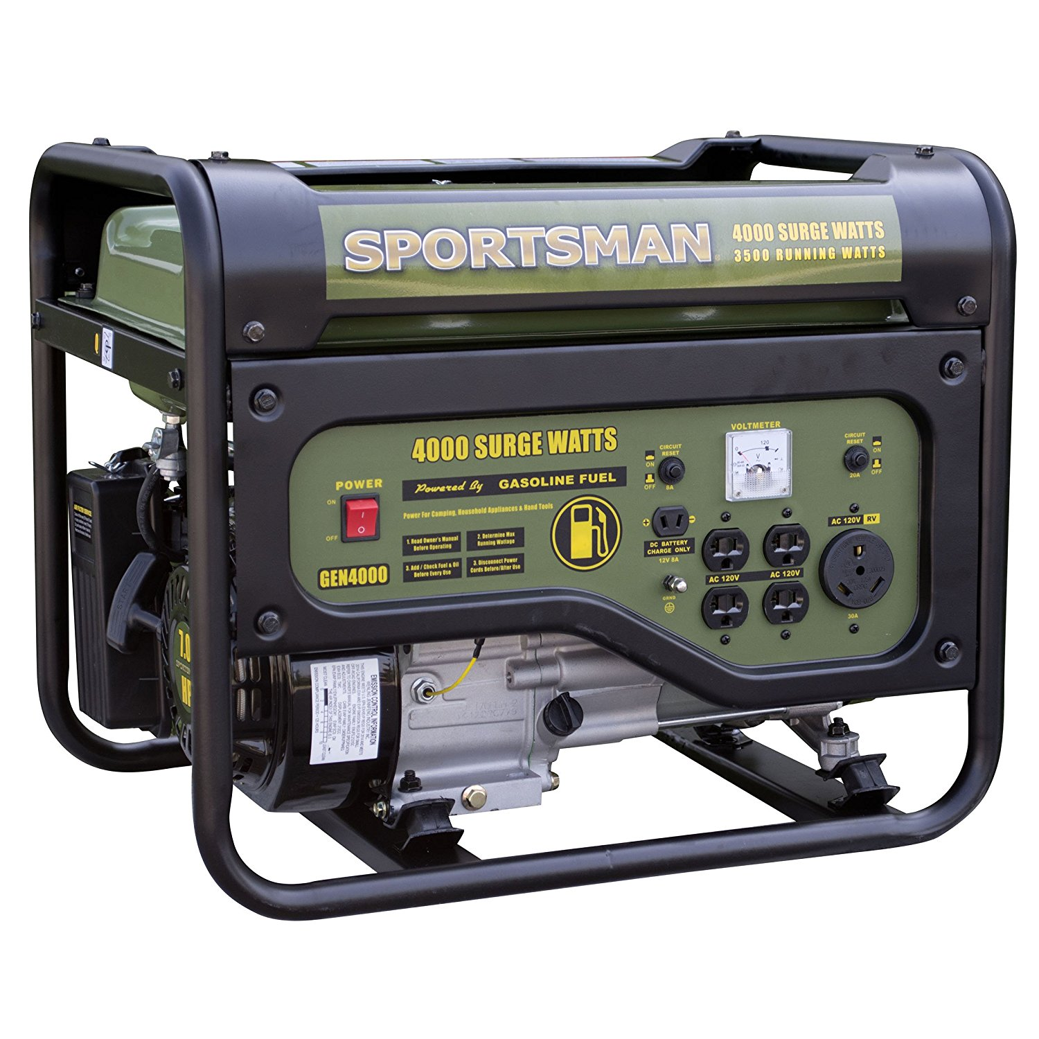 Sportsman GEN4000C, 3500 Running Watts/4000 Starting Watts, Gas Powered Portable Generator