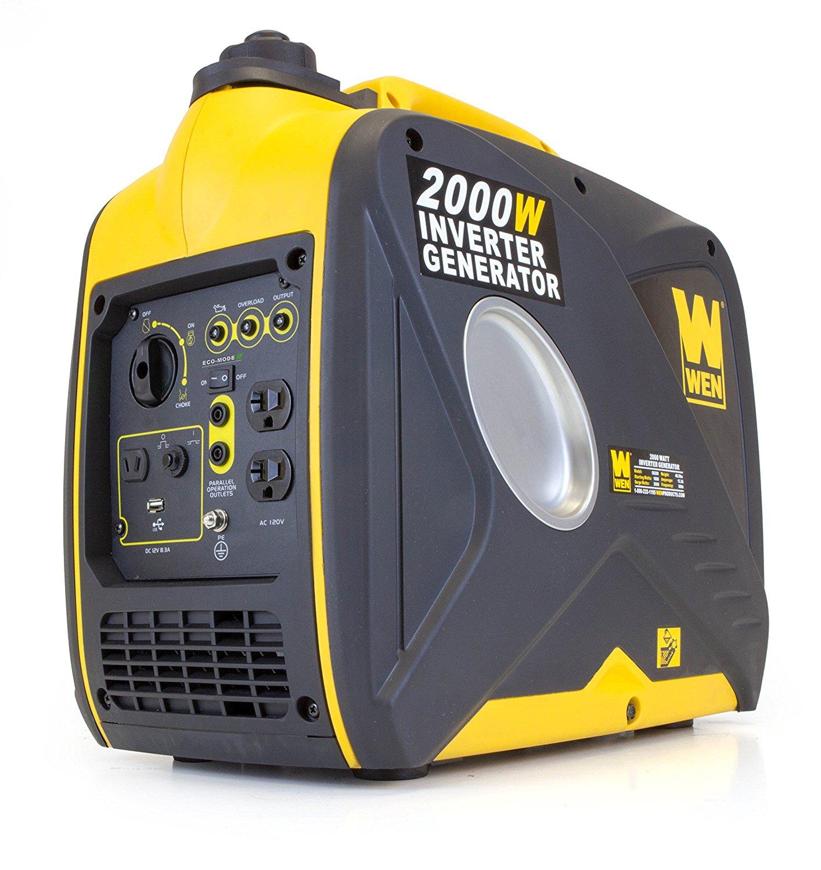 WEN 56200i, 1600 Running Watts/2000 Starting Watts, 4-Stroke Gas Powered Portable Inverter Generator